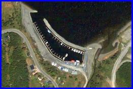 Aerial view of Bay of Islands Yacht Club